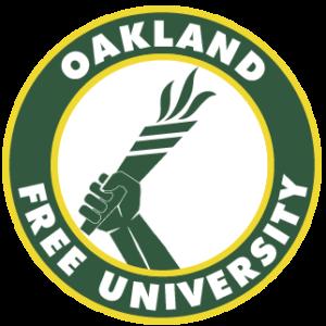Oakland Free University's logo.